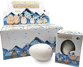 JustRean Toys XXL Pinguin 🐧 Schlüpf Ei 11cm - Jumbo Pinguinei - Magic Growing Egg Schlüpfei