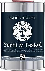 OLI-NATURA Yacht & Teaköl (Holzöl für Außenbereich, UV-Schutz), Inhalt: 1 Liter, Farbe: Teak
