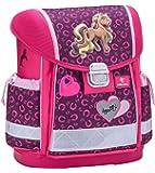 Belmil Ergonomischer Schulranzen Mädchen 1. klasse 2. klasse 3. klasse - Super Leichte 900-960 g/Grundschule/Pferde Pony/Pink Rosa (403-13 Anna Pet Pony)