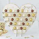 Ginger Ray Guld bröllop choklad godis stativ dekoration godis buffé, brun