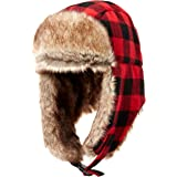 Amazon Essentials - Trapper Hat With Faux Fur, cold-weather-hats Uomo