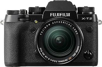 Fujifilm X-T2 Systemkamera Kit inkl. XF18-55mm Objektiv (24,3 Megapixel) schwarz