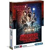 Clementoni Stranger Things Puzzle-1000 pièces Netflix-puzzle adulte-fabriqué en Italie, 39542, No Color