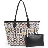Damen Handtaschen, Allover-bedruckte Geldbörsen, Schulranzen, Schultertasche mit Reißverschluss