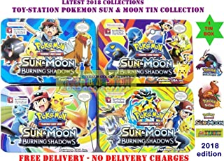 TOY-STATION Pokemon - Sun and Moon Trading Cards Tin Box (Multicolour)