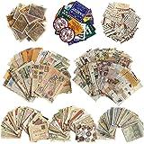 675 Pièces Papier de Scrapbook Vintage Autocollant de Timbre Découpage de Journaux Papier Décoratif de Journalisation Autocol
