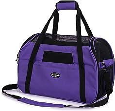 Kaka mall Transporttasche für Katzen Hunde Comfort Fluggesellschaft zugelassen Travel Tote Weiche Seiten Tasche für Haustiere