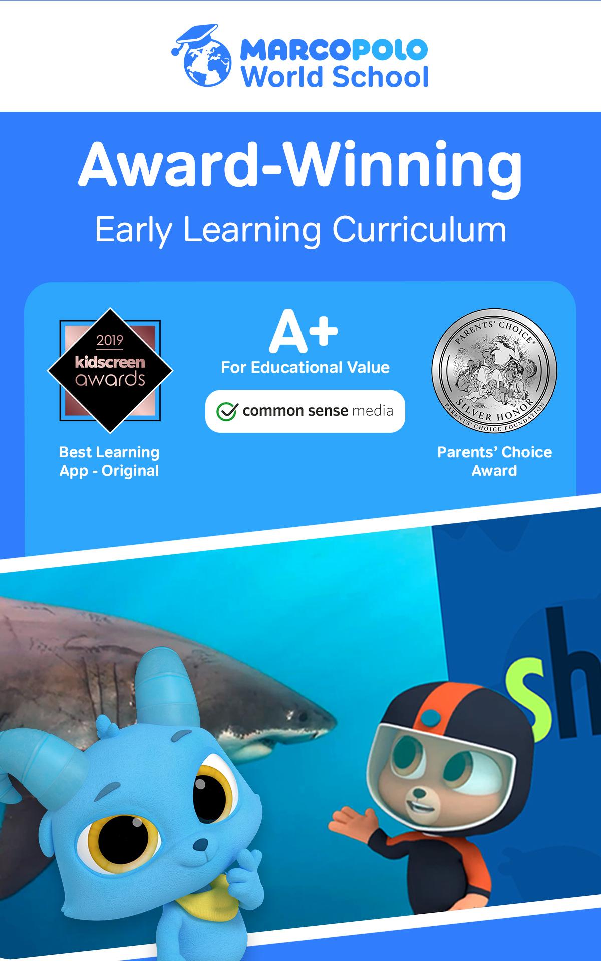 MarcoPolo World School - Preschool educational app