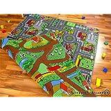 Tapis de jeu avec routes - réversible - deux faces avec paysages routiers différents, Größe und Preise Duoplay:01) 100x165 cm