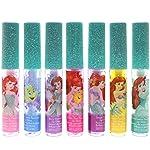 Disney Ariel Kids Washable Party Favour Lip Gloss, 7 Flavours include Cotton Candy, Strawberry, Berry, Bubble Gum, Grape...