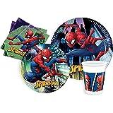 Ciao- Kit Mesa Fiesta Party Marvel Spider-Man Team-Up para 8 personas (44 piezas: 8 platos de papel Ø23cm, 8 platos de papel
