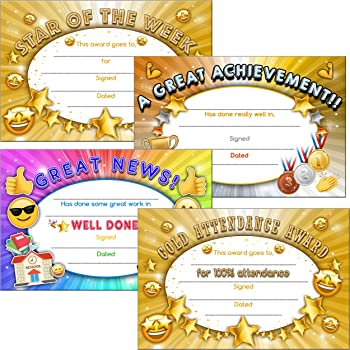 30 certificates of award star certificate pack amazon co uk