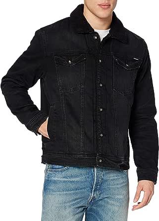 Superdry Men's Highwayman Sherpa Trucker Denim Jacket