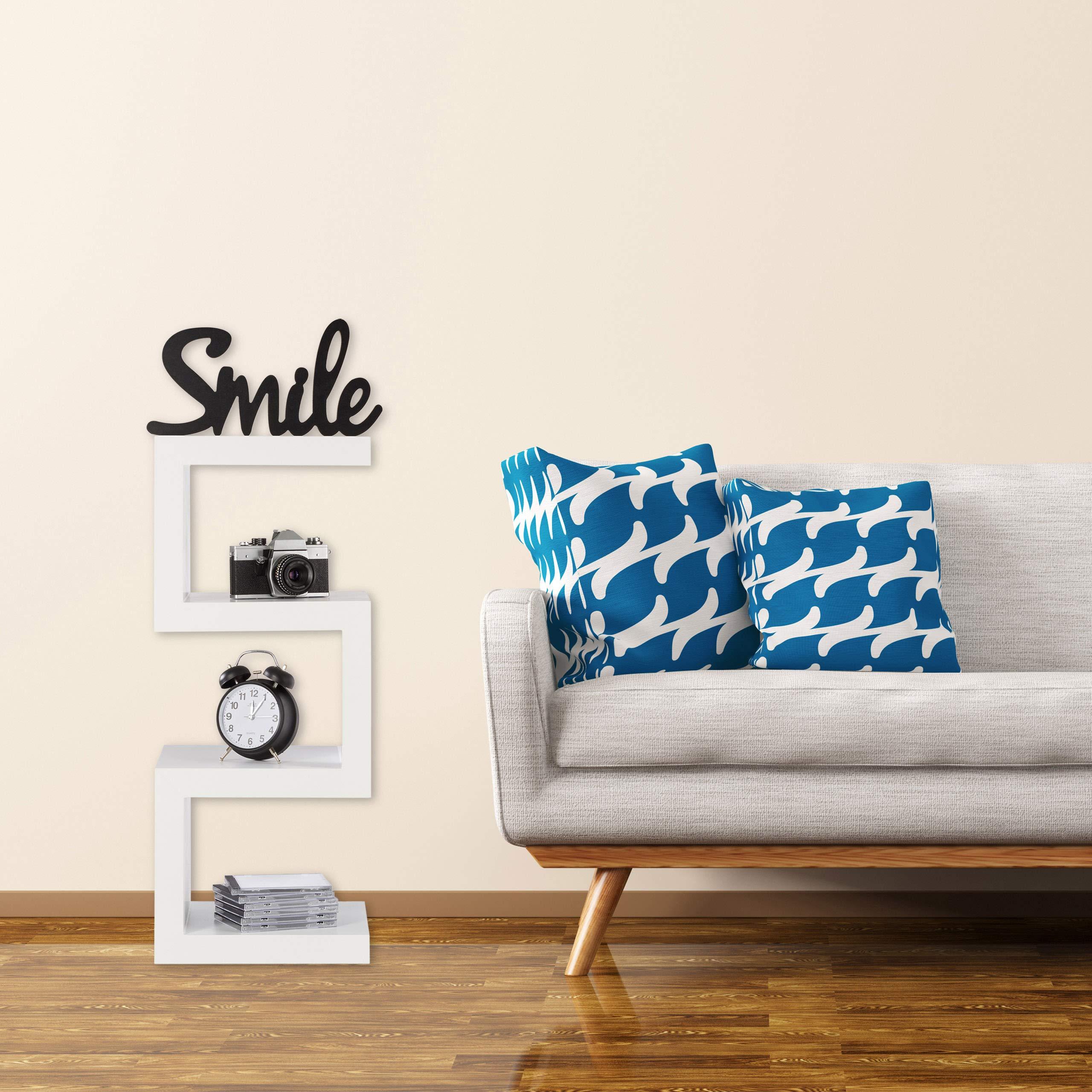 Mensole Colorate In Legno.Relaxdays 10021912 Scaffale A Zig Zag In Design Retro Mensole Per