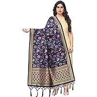 Perfectblue Women's Women's Kora Silk Banarasi Dupatta/Chunni