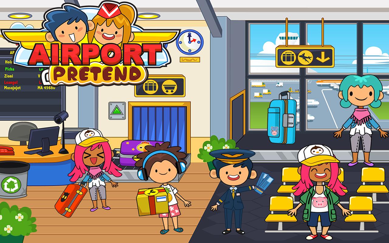 Kids Travel Town & International Airport City Games