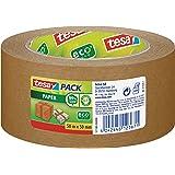 tesa 57180-00000-02 papieren verpakkingstape van gerecyclede materialen voor verpakking pakketten en dozen 50 m x 50 mm, verp