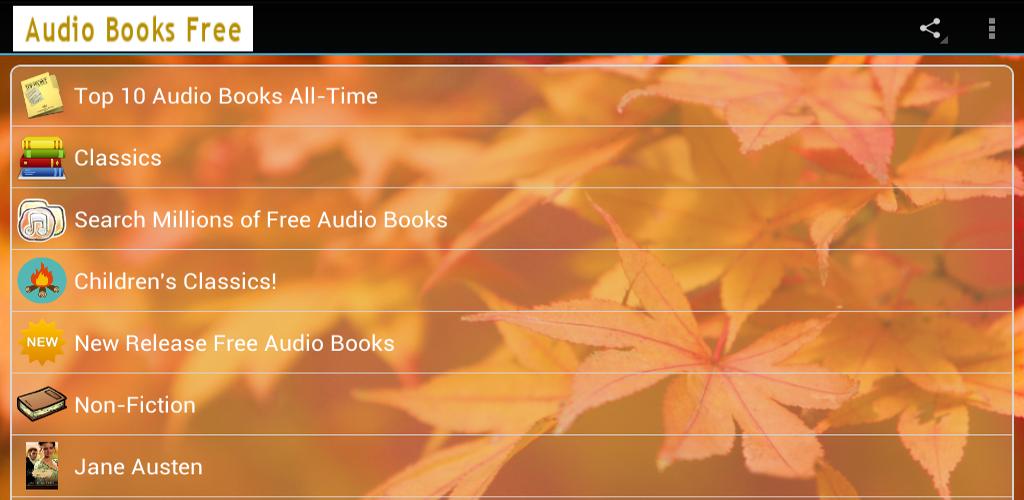 Audio libri gratis appstore per android for Regalo libri gratis