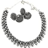 Adc Fashions Oxidized Silver and Amethyst Necklace for Women & Girls (Silver) Item Name (aka Title) ADC [2126]