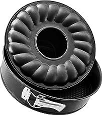 Zenker 6507 Springform mit Flach- und Rohrboden Ø 24 cm, black metallic