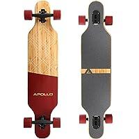 Apollo Longboard édition spéciale Board Complet y Inclus Outil en Forme de T, avec roulements à Billes ABEC High Speed, Drop-Through Freeride Skaten Cruiser Boards