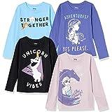 Spotted Zebra Niña 4 Pack Camisetas de manga larga