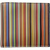 Paul Smith Signature Stripe Leather Coin Billfold Wallet - Multicolour