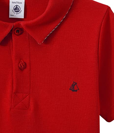 Petit Bateau Boy's MC 28789 Polo Shirt, Rot (Terkuit 75), 3 Years:  Amazon.co.uk: Clothing