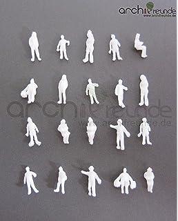 60 stücke 1:87 Maßstab Unlackiert Modellbahn Menschliche Figuren 10mm für