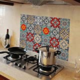 WallDesign Vinyl Mosaic Wall Door Furniture Sticker, 76 x 50 cm, Multicolour