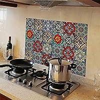 WallDesign Kitchen Protection Anti-Mark Oil Proof Easy Clean Plastic Wall Stickers Mosaic Tiles Design (PVC Vinyl, 76 cm x 50 cm)