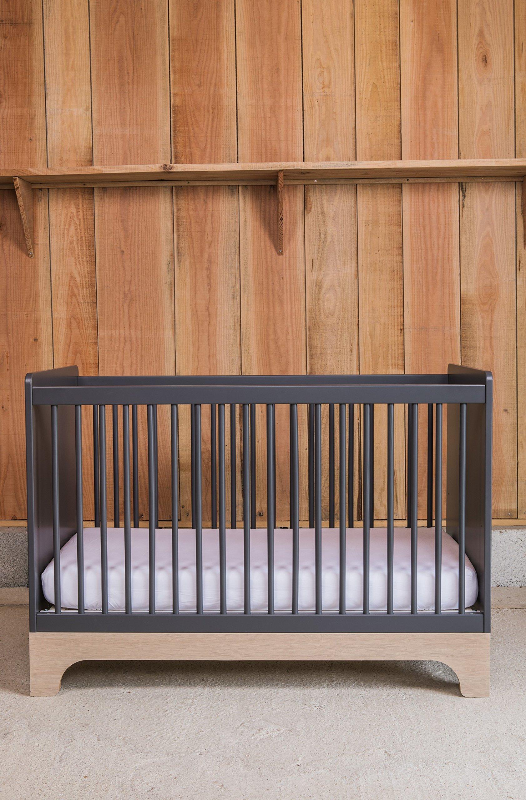 Kadolis Calvi Convertible Bed - 70 x 140 cm Antracita/Madera   2