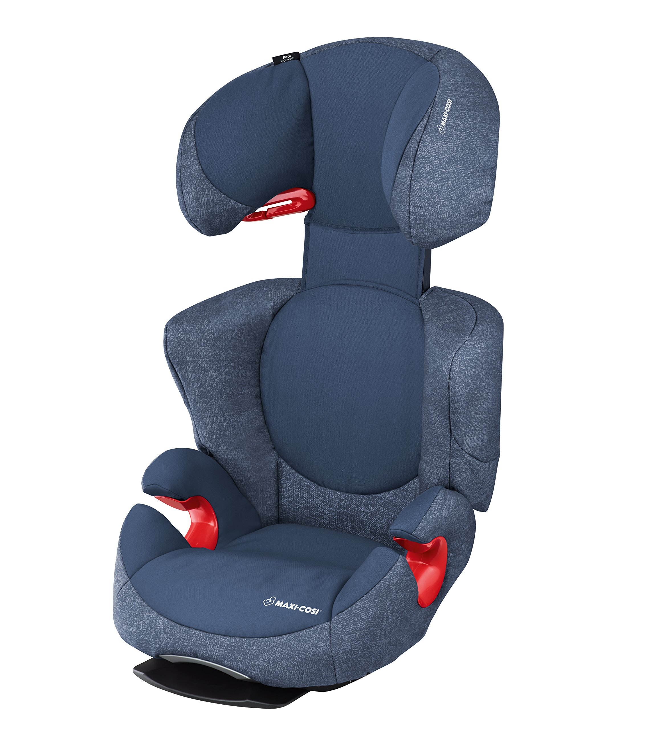 Maxi-Cosi Rodi AirProtect Child Car Seat, Lightweight Highback Booster, 3.5 - 12 Years, 15-36 kg, Nomad Blue Maxi-Cosi Excellent side impact protection - with the combination of patented air protect technology in the headrest and side impact protection in the backrest and seat reduces the risk of head, neck, back and hips injuries. Patented air protect technology in headrest - the risk of head and neck injuries are reduced up to 20%* thanks to the air protect technology in the headrest. *see maxi-cosi's website for more information Easy to install - easily install this car seat with a 3-point seat belt and attach the anchorage point in the head rest through your cars head rest 2