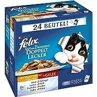 FELIX So gut wie es aussieht, Katzennassfutter I Adult I 4er Pack (4 x 24 x 100 g)