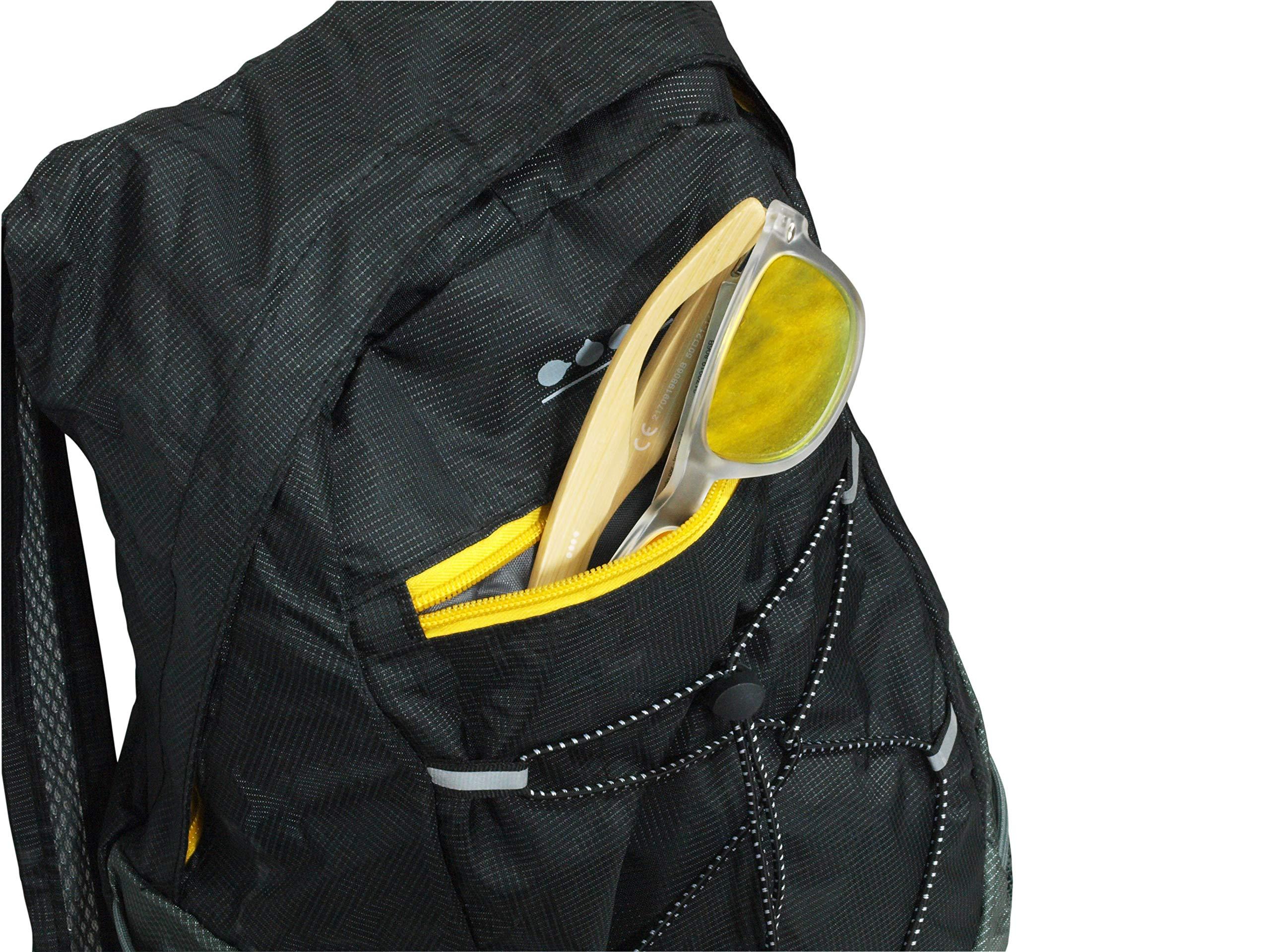Mochila Plegable Impermeable, Ertha, Mochila Plegable para Viaje, Mochila Plegable de Nylon,