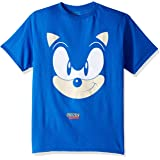SEGA boys Sonic the Hedgehog Big Face Short Sleeve Tshirt T-Shirt