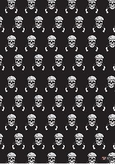 Gift Paper 2 x Sheets + Tags Xmas Skulls Wrapping Paper Christmas Skulls