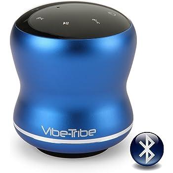 Vibe-Tribe Mamba - Yale Blue: 18 Watt Bluetooth Vibration Speaker con Touch Screen, Daisy-Chain, Vivavoce e Vacuum Base integrata