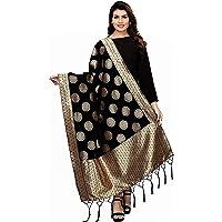 Jaanvi fashion Women's silk Dupatta