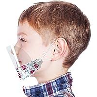 Urhome, 1 visiera per il viso, protezione per il viso, visiera, visiera, protezione per la bocca, colore blu per bambini