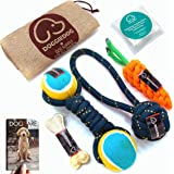 DOGGIE DOG Attractive Cotton Poly Mix Chew Dog Toys for Teething Suitable Small and Medium Puppies with Jute Bag & eBook (Bob