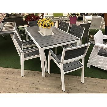 Set tavolo e 6 poltrone harmony in resina keter con stampo finto legno giardino e - Amazon tavoli da giardino ...