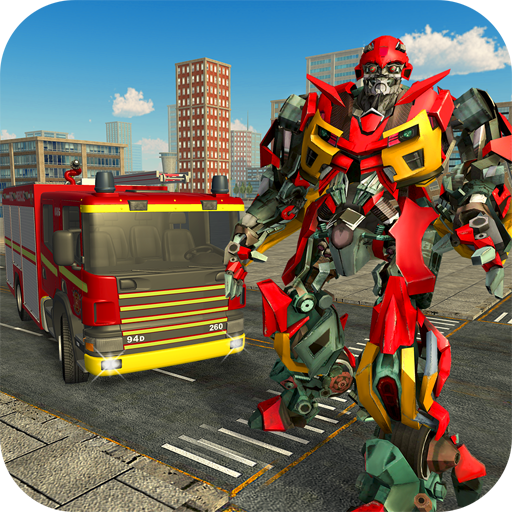 Firefighter Robot City Rescue Game