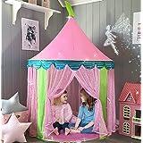Tente de Jeu Enfant avec Sac de Transport, Château de Princesse Tente, Tipi Pop-up Portable, intérieur et extérieur, idée Cad
