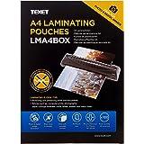 Texet - Paquete de 100 fundas A4 para plastificar, transparente