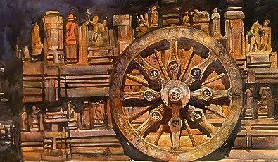 Konark Temple (Watercolor Painting by Prasenjit Dey)