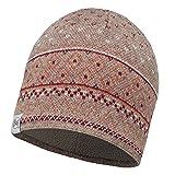 Buff Damen Strick mit Kopfbedeckungen L Edna Fossil/Brown