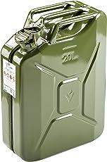 HP Autozubehör Benzinkanister Stahlbl. 20l TÜV+GS+UN-gepr. Oliv