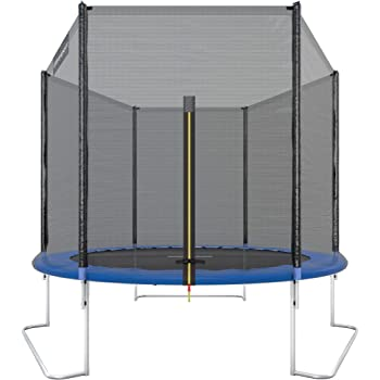 Ultrasport Outdoor Gartentrampolin Jumper, Trampolin Komplettset inklusive Sprungmatte, Sicherheitsnetz, gepolsterten Netzpfosten und Randabdeckung, 120kg - 160kg, Ø180 cm - Ø430 cm