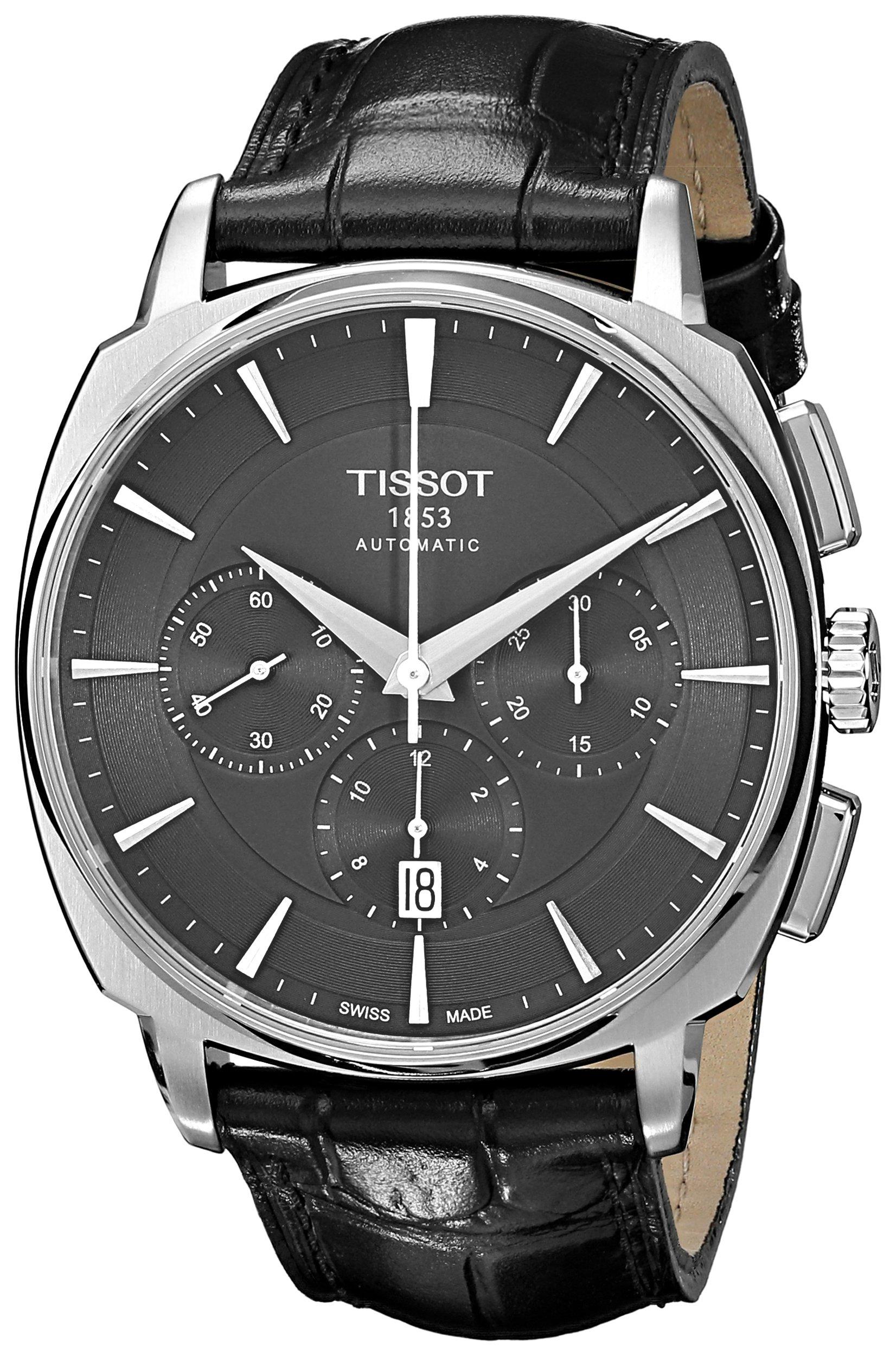 Tissot Reloj Cronógrafo para Hombre de Automático con Correa en Cuero T059.527.16.051.00